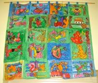 Large textile patchwork