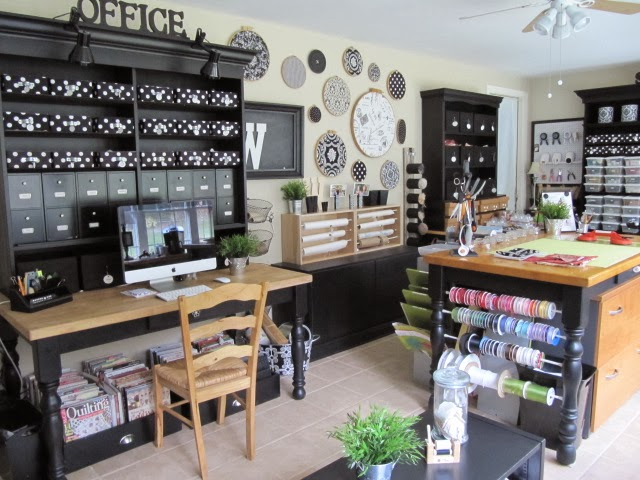 Crafty rooms inspiration make your house a home for Craft and sewing room ideas