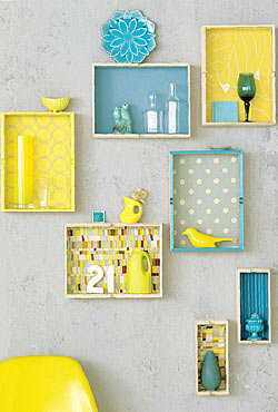 Moppe drawers repurposed as wall boxes