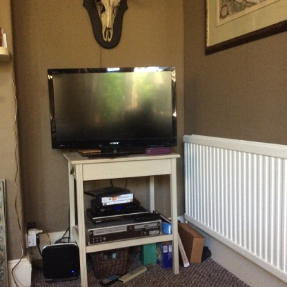 Ugly TV, boxes and wires