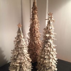 Vintage Paper Christmas Trees