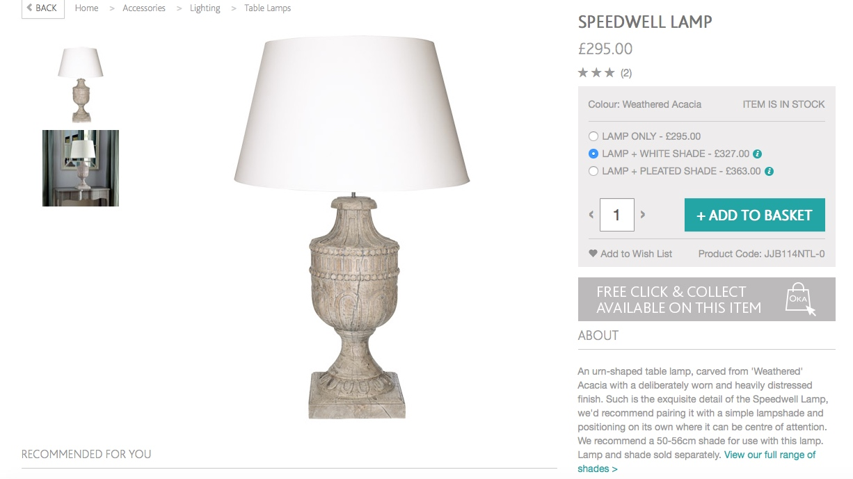 Grabbing yet another bargain sorry oka decor and diy oka lamp aloadofball Images