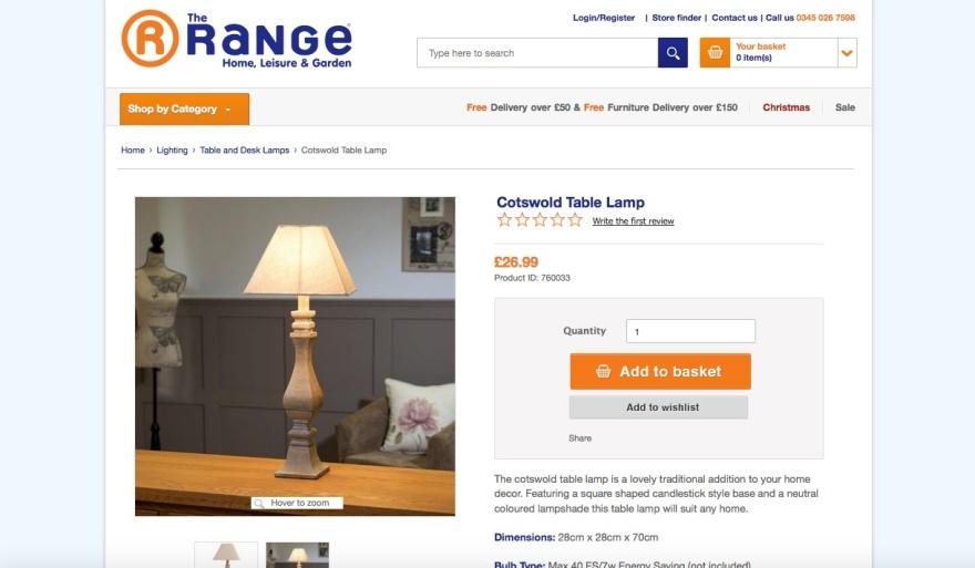 range lamp