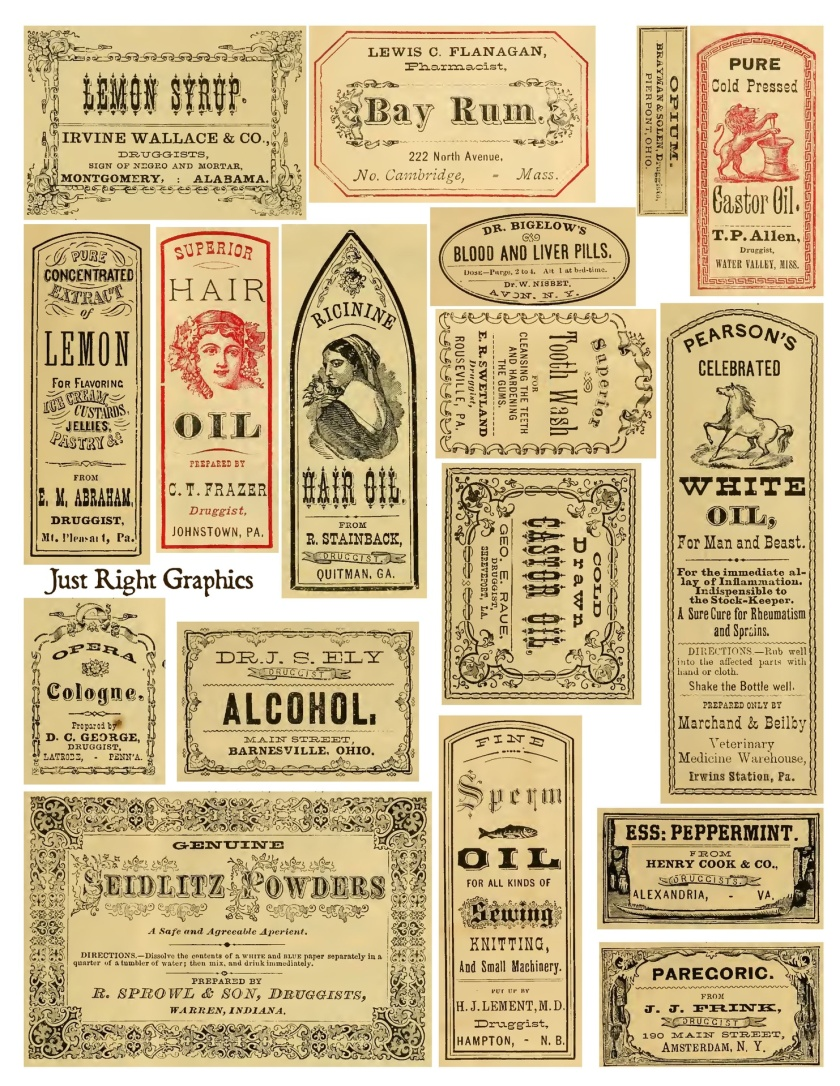 Apothecary style labels