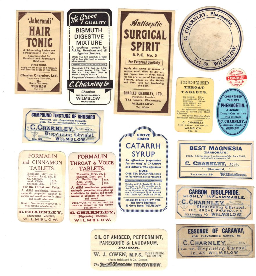 Old Chemist Labels 1