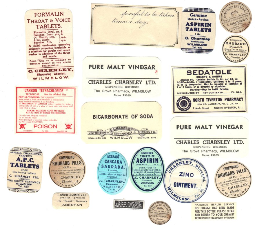 Old Chemist Labels 2