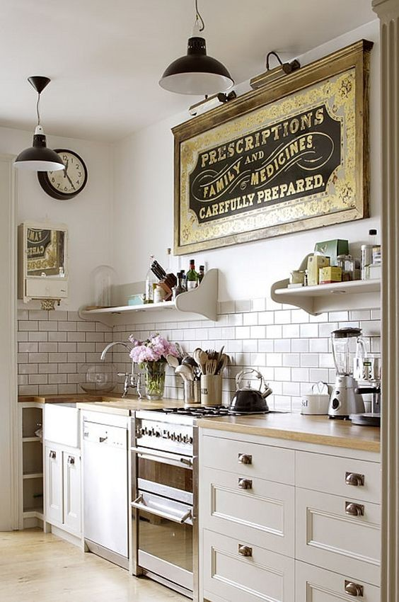 Country Small Kitchen Interior Design Ideas Ceramic Tile Backsplash