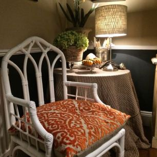 This is my earlier bamboo chair makeover