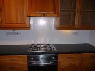 kitchen hob area