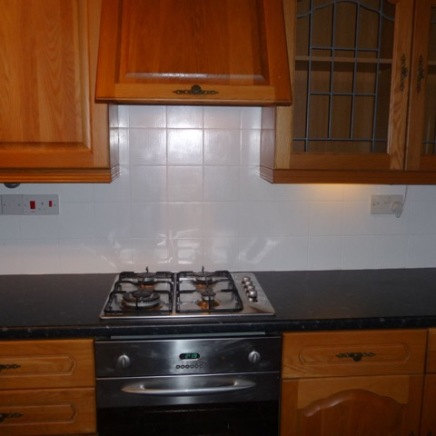 kitchen hob area