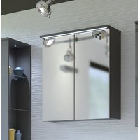 Storage, lighting and a mirror